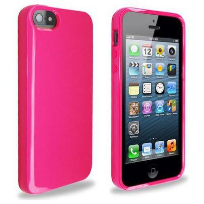 Microsonic Glossy Soft Kılıf Iphone 5s Pembe Cep Telefonu Kılıfı