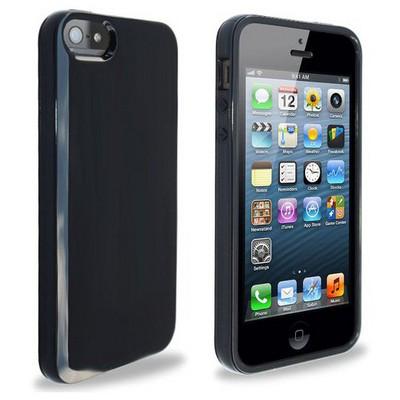 Microsonic Glossy Soft Kılıf Iphone 5 & 5s Siyah Cep Telefonu Kılıfı