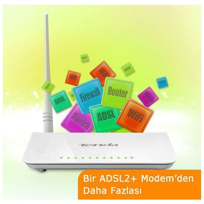 Tenda D151 Wireless N150 ADSL2+ Modem Router