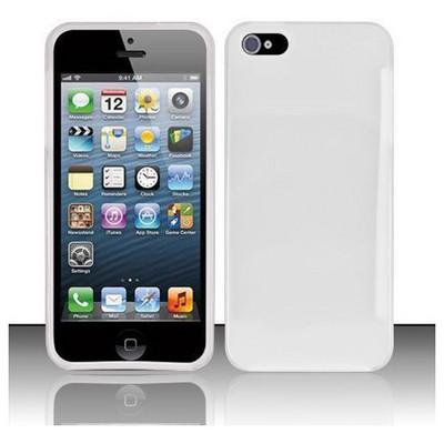 Microsonic Iphone 5 parlak Soft Kılıf Beyaz Cep Telefonu Kılıfı