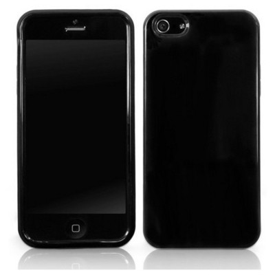 Microsonic Iphone 5 Glossy Soft Kılıf Siyah Cep Telefonu Kılıfı
