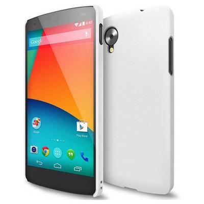 Microsonic Rubber Kılıf Lg Google Nexus 5 Beyaz Cep Telefonu Kılıfı