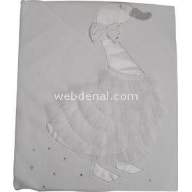 Kardeşler 3806 Penye  Beyaz Bebek Battaniyesi
