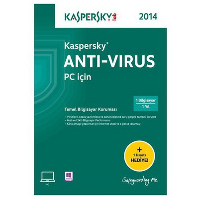 Kaspersky Antivirüs 2014 Türkçe 2 Kullanıcı Güvenlik Yazılımı
