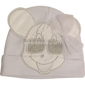 Kardeşler 3853 Bebek Şapkası Beyaz Şapka, Bere, Kulaklık