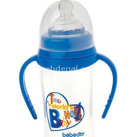 Bebedor 97362 Oval Geniş Ağız  Damaklı Emzik Orta Akış 250 Ml Mavi Biberon
