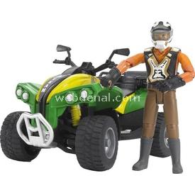 Bruder Atv Aracı Ve Sürücüsü Erkek Çocuk Oyuncakları