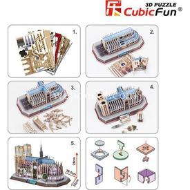 Cubic Fun 3d 149 Parça Led  Notre Dame De Paris Puzzle