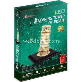 Cubic Fun 3d 15 Parça Led  Leaning Tower Of Pisa Puzzle