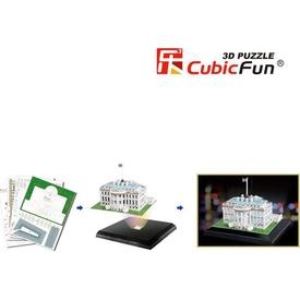 Cubic Fun 3d 56 Parça Led  Beyaz Saray Işıklı Puzzle
