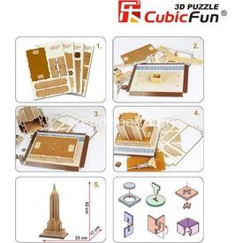 Cubic Fun 3d 55 Parça  Empire State Binası Puzzle