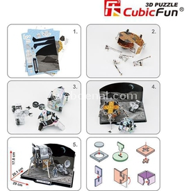 Cubic Fun 3d 104 Parça  Apollo Lunar Module Puzzle