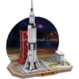Cubic Fun 3d 68 Parça  Saturn V Rocket Puzzle