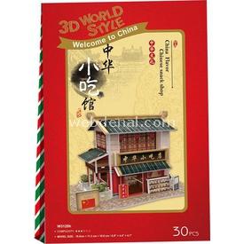 Cubic Fun 3d 30 Parça  Chinese Snack Shop Puzzle
