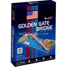 Cubic Fun 3d 20 Parça  Golden Gate Köprüsü Puzzle
