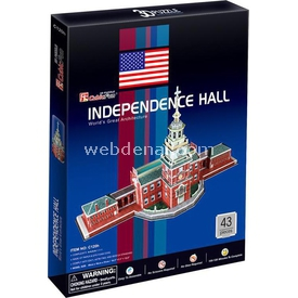 Cubic Fun 3d 43 Parça  Independence Hall Puzzle