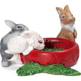 Schleich Bebek Tavşanlar Figür 3 Cm Figür Oyuncaklar