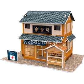 Cubic Fun 3d 32 Parça  Japanese Sushi Restaurant Puzzle