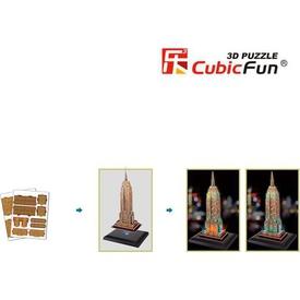 Cubic Fun 3d 38 Parça  Empire State Binası - Abd Puzzle