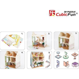 Cubic Fun 3d 160 Parça  Dreamy Dollhouse Puzzle