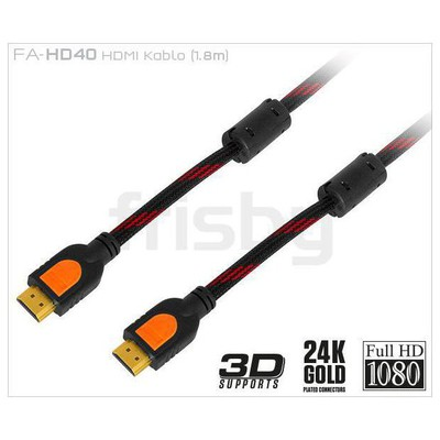 Frisby Ffa-hd40 1,8 Metre Hdmı Kablo Altın Uçlu V1 HDMI Kablolar