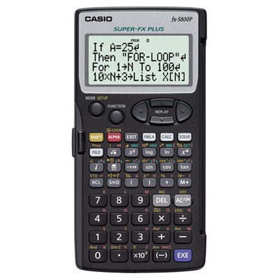 Casio Bilimsel  (fx-5800p) Hesap Makinesi