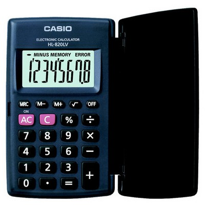 Casio Hl-820lv-bk 8 Hane Cep Hesap Makinesi