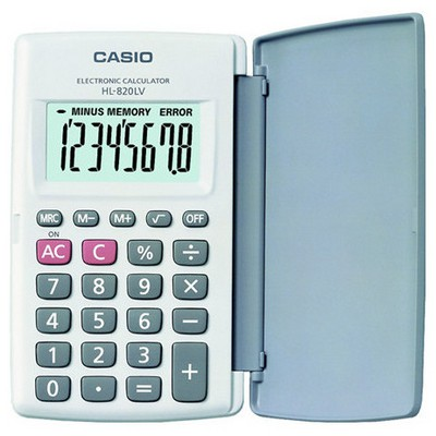 Casio Hl-820lv-we 8 Hane Cep Hesap Makinesi