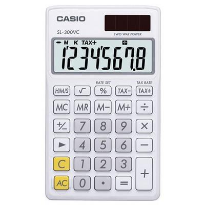 Casio Sl-300vc-we 8 Hane Cep Hesap Makinesi