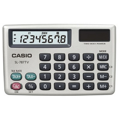 Casio Sl-787tv-gd 8 Hane Cep Hesap Makinesi