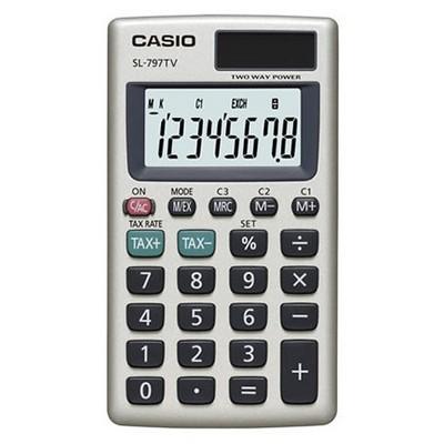 Casio Sl-797tv-gd 8 Hane Cep Hesap Makinesi