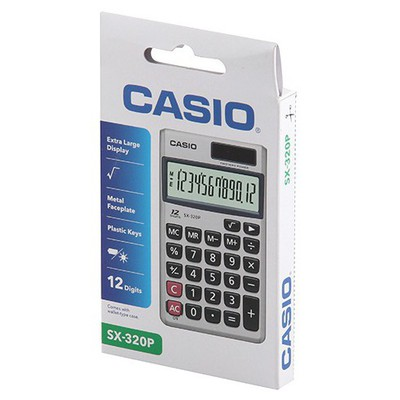 Casio Sx-320p 12 Hane Cep Hesap Makinesi