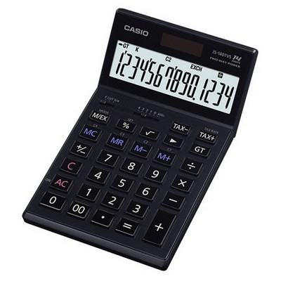 Casio Js-140tvs-bk 14 Hane Prof. Masaüstü Hesap Makinesi