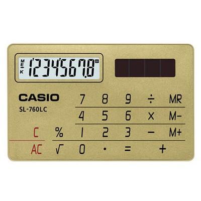 Casio 8 Haneli Cep Tipi Hesap Makinesi (SL-760LC-GD)