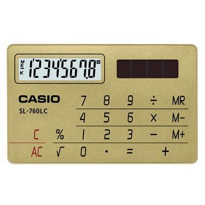Casio Sl-760lc-gd 8 Hane Cep Hesap Makinesi