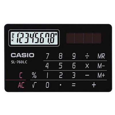Casio 8 Haneli Cep Tipi Hesap Makinesi (SL-760LC-BK)