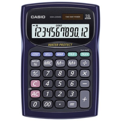Casio  12 Haneli Masüstü Hesap Makinesi (WM-220MS-WE)