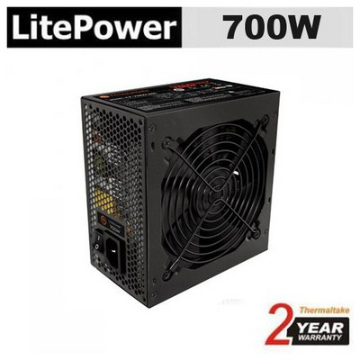 Thermaltake Litepower Black Edition Lt-700pceu, 700w, Apfc, 12 Cm Fan, Güç Kaynağı