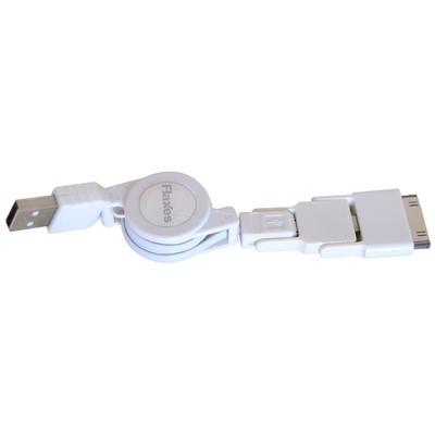 Flaxes Fms-505b Flaxes Data Kablosu Iphone5-4 Ipad2-4-mini Samsung Vs. Makaralı Beyaz Kasa İçi Kablolar