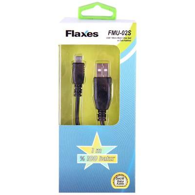 Flaxes Fmu-02 Flaxes Fmu-02 Usb To Mıcro Usb 1mt Akıllı Telefonlara Uyumlu Dönüştürücü Kablo