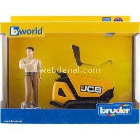 Bruder Jcb Dumpster Htd-5 & Inşaat Işçisi Erkek Çocuk Oyuncakları