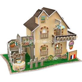 Cubic Fun 3d 36 Parça  French Garden Cottage Puzzle
