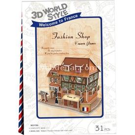 Cubic Fun 3d 31 Parça  French Fashion Shop Puzzle