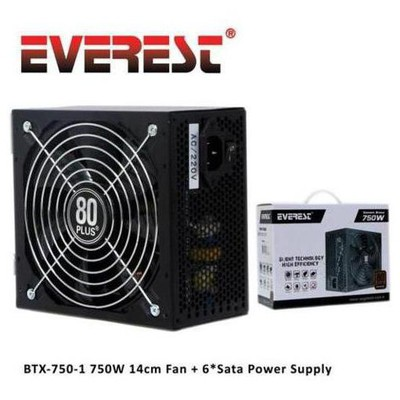 Everest Btx-750-1 750w 80+ Bronze Power Supply Güç Kaynağı
