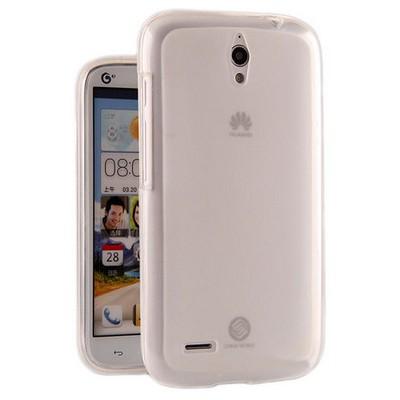 Microsonic Glossy Soft Kılıf Huawei Ascend G610 Şeffaf Beyaz Cep Telefonu Kılıfı
