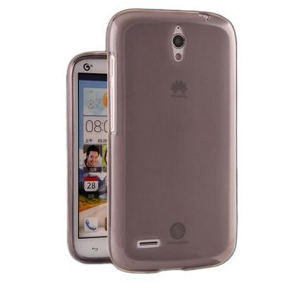 Microsonic Glossy Soft Kılıf Huawei Ascend G610 Şeffaf Gri Cep Telefonu Kılıfı