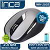 Inca IWM-280S WIRELESS NANO 2.4GHZ MOUSE SİYAH GRİ Mouse