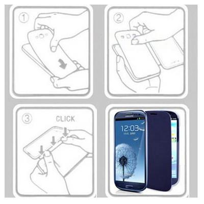 Microsonic Double View Delux Kapaklı Kılıf Huawei Ascend G610 Beyaz Cep Telefonu Kılıfı
