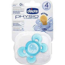 Chicco 7280311 Physio Comfort Kauçuk  4+ Ay Tekli Mavi Emzik