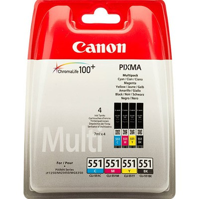 Canon CLI-551 C/M/Y/BK 4'lü Kartuş